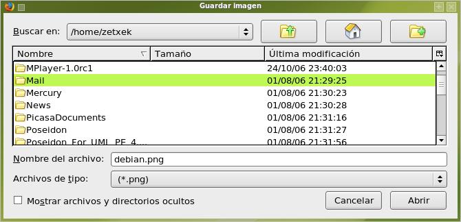 Menú KDE