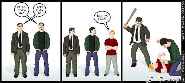 Yo soy mac, Yo PC…y yo linux