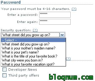 Pregunta de seguridad