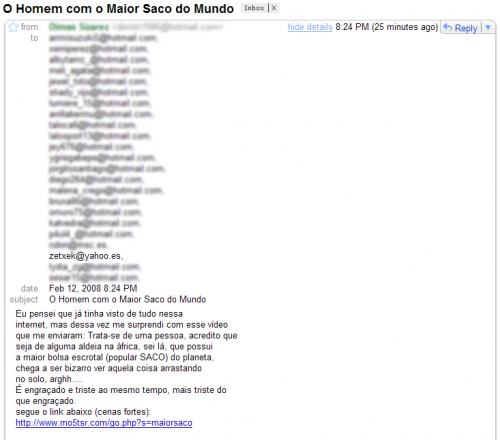El spam más raro del mundo
