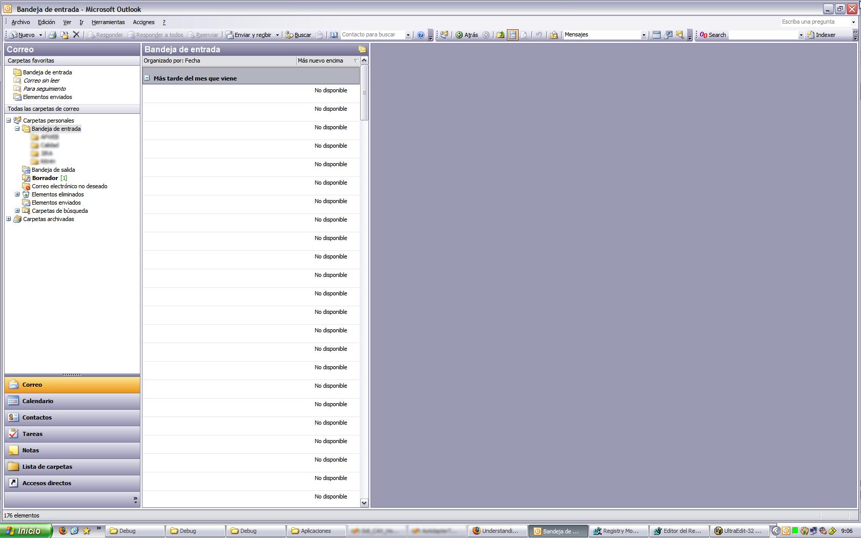 Outlook, leyendo tu correo del mes que viene