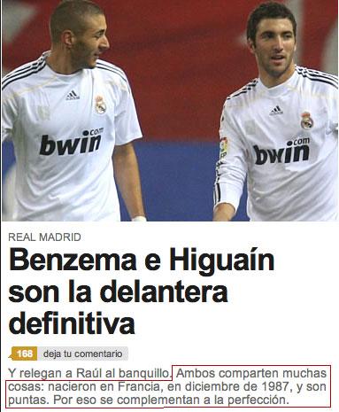 Benzema & Higuaín, unidos por el destino