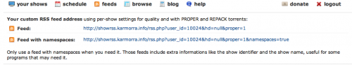 Feeds RSS de torrents