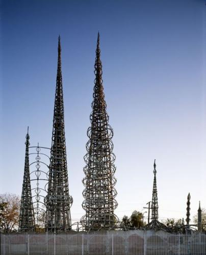 Vista general de las Watts Towers